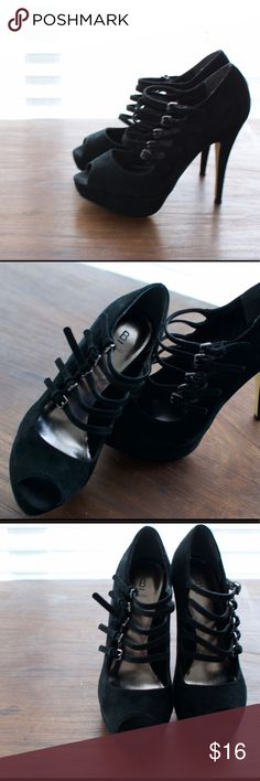 Super cute Mary Jane Peep Toe Pumps Strappy Mary Jane peep toe pumps! Shoes Heels