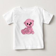 Pink Teddy Bear Shirt - baby gifts child new born gift idea diy cyo special unique design
