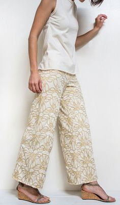Alabama Chanin Pants! I think these are the first pants they've made.