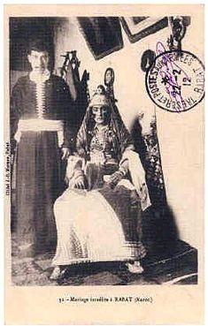 Costumes et vêtements traditionnels des Juifs au Maroc Jews from Rabat (Pharyah)