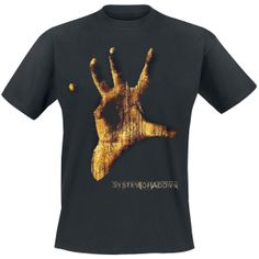 """Kesän 2013 Jurassic Rock -vieras!    System Of A Down """"Vintage Hand"""" T-paita, 100% puuvillaa."""
