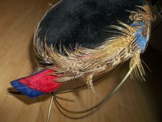 Vintage Mid Century feather And Black by vintagelinentreasure, $14.99