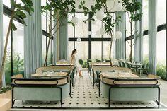 Terrazzo, Harlan Holden, Herringbone Marble Floor, Tabletop, R Cafe, Cafe Bar, Used Outdoor Furniture, Outdoor Sofa, Style Deco