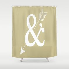 And Brown-Gray Shower Curtain 71 x 74 in Gift Cute Decor Apartment Bath Bathroom Love Decor Accent Original Art Brown Curtain Gray Curtain by xkbeth on Etsy