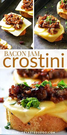 Appetizers For A Crowd, Holiday Appetizers, Easy Appetizer Recipes, Yummy Appetizers, Holiday Recipes, Snack Recipes, Jam Recipes, Crostini, Bruschetta