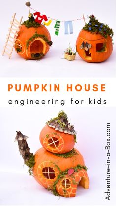 Looking for autumn STEM activities to do with elementary school kids? Work together on a pumpkin house engineering project! #pumpkins #elementaryschool #homeschool #teacher #stem #stemforkids #engineeringforkids