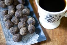 Raw Chocolate Truffles:  1 cup of nuts (I used almonds)  1 1/2 cups of coursely-chopped madjool dates  2 tbsp or more of chocolate powder or cacao powder  a pinch or two of sea salt  agave (to bind the mixture)  shake of cinnamon (optional)  1/8 tsp fresh ground ginger (optional)
