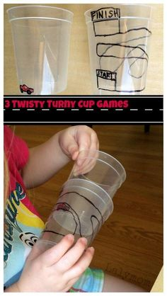 Cup Twisting Fine Motor Games 3 Simple but Fun Cup Twisting Games on - How cool! What a fun way to work on fine motor skills and bilateral coordination!No Fun No Fun may refer to: Sensory Activities, Learning Activities, Preschool Activities, Sensory Play, Visual Motor Activities, Visual Perceptual Activities, Pediatric Occupational Therapy, Gross Motor Skills, Fun Cup