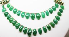 79.05 Ct Fine Natural Emerald  Drops Necklace UnTreated Zambia Loose Gemstone #RareGemIN