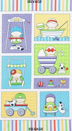BABY SWEET panel Amy Bradley Timeless Treasures Fabric for quilt, wallhanging