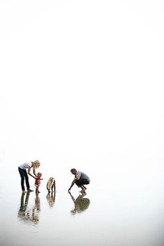 minimal distractions in this photo, the focus is on the family interacting - love!