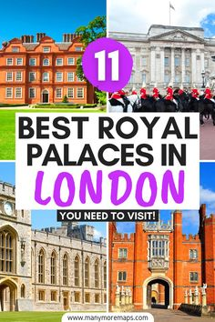 The very best royal palaces and attractions that you can't miss on a trip to London, England! Buckingham Palace, Houses of Parliament, Kew Gardens and Kew Palace, Kensington Palace, Tudor palaces and history in London, Lambeth Palace, Windsor Castle, Hampton Court Palace, Eltham Palace, the Banqueting House, royal family attractions in the UK, London royal guards, changing of the guard London, london royal aesthetic, London palace of Westminster, fun things to do in London, what to see in London Packing List For Travel, Europe Travel Guide, Travelling Europe, Traveling, London What To See, Things To Do In London, London England Travel, London Travel, Road Trip Uk