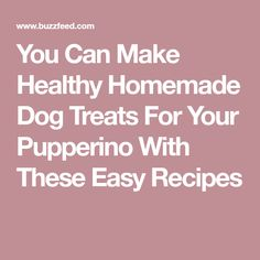 You Can Make Healthy Homemade Dog Treats For Your Pupperino With These Easy Recipes
