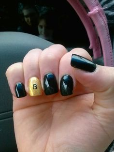 Boston Bruins playoff nails!