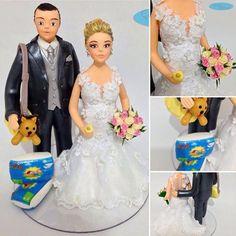#noivinhosgrávidos ❤️ #noivinhospersonalizados #topodebolo #casamento #gravida #noivinhosdiferente #noivos #noivas #noivinhosdebiscuit #weddingcake #wedding #weddingdress #weddingcaketopper #pregnancy #maternidade #casacomigo #amor #love   orçamentos: e-mail para caraarteembiscuit@yahoo.com.br, ou mensagem inbox na página https://facebook.com/caraarteembiscuit
