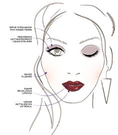 SHAME by Urban Decay, fall 2013.  Demure eyes and pouty, vampy lips