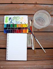 Mornings on the deck 2 :) (ZAN570) Tags: watercolor paint box artsupplies sketchkit