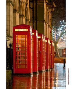 Red Telephone Boxes by Paul Melling Photography, via Flickr