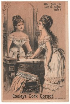 Trade Card Collection 035 - Cooley's Cork Corset - Front.
