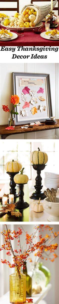 35 Ideas for Easy Thanksgiving Decorating. Details: http://bit.ly/1VsDI9k
