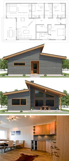 Awesome Small One Story House Small One Story House . Awesome Small One Story House . Architecture Architecture House Plan Home Plans Plan De Sims House Plans, New House Plans, Dream House Plans, Small House Plans, House Floor Plans, My Dream Home, Dream House Exterior, Story House, Prefab Homes