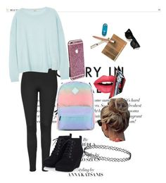 """""""#look"""" by multifandom01 ❤ liked on Polyvore featuring Topshop, J Brand, Vans, Fiebiger and Maryam Keyhani"""