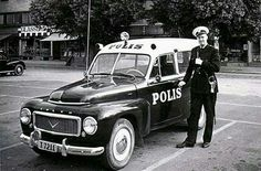Swedish Police  with his Volvo Duett