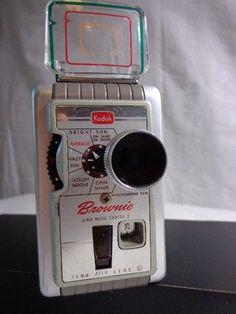 SOLD!!!!!  KODAK BROWNIE 8mm Film camera ll 1950'S Kodachrome Home movie #Kodak