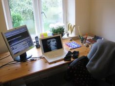 Adapting my workspace for winter - fleece blanket, fingerless gloves, lip balm etc - http://www.workfromhomewisdom.com/2013/11/18/adapt-workspace-winter/