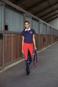 Horze Supreme Grand Prix Women's knee patch Breeches with special stitches are a colorful, comfortable addition to your riding wardrobe.