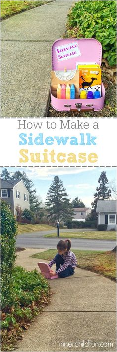 Fun Outdoor Activity Idea - This sidewalk suitcase was a HUGE hit with my kids when I surprised them with it after school one afternoon! :-)
