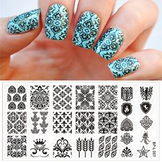 Vintage Damask Nail Art Stamp Template Image Plate BORN PRETTY Stamping Plate BP-L007 12.5 x 6.5cm
