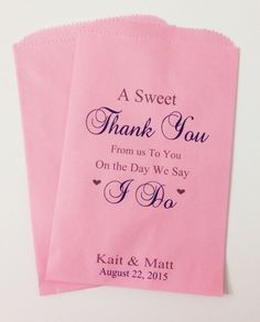 Wedding Candy Buffet Favor Bags By SweetLoveCandy