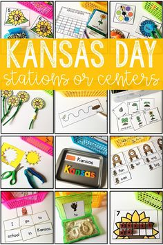 Here is a set of 12 activities that can be used for Kansas Day exploration in stations or centers. Each activity has a Kansas-related theme. There are four literacy activities, four math activities, a science activity, and three fine motor activities. These holiday and seasonal activities were designed for kindergarten and home school students. It's great for English language arts, science, and math lessons. Use for independent practice or seatwork. {kinder, ELA}