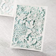 Magical Garden laser cut wedding invitation by B Wedding Invitations. Visit our website and find more beautiful laser cut invitation designs!