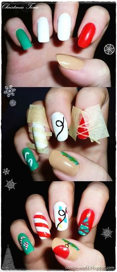 Christmas Nail Designs Right Here Belleza Moda