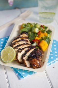 BBQ Jerk Chicken with Mango Salsa | The Official Website for Donal Skehan
