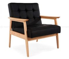 Eames Inspired,Black RAR Rocking Arm Chair - Inspired By Designs of Charles & Ray Eames Black Leather Armchair, Outdoor Chairs, Outdoor Furniture, Original Design, Living Room Chairs, Recliner, Accent Chairs, Arm Chairs, Interior Design