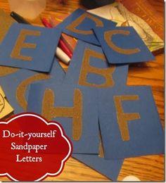 DIY Sandpaper Alphabet Letters for Kids #alphabet #preschool #kidsactivities