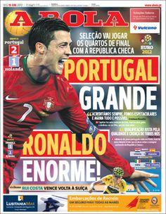 Prensa deportiva del 18 de junio 2012  :a bola