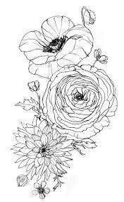tattoos of ranunculus delicate - Google Search