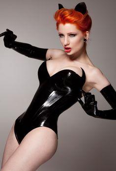 --Lady Lucie Latex Rubber Fetish Fashion Clothing Corsets & Costume | Superheroine Corset