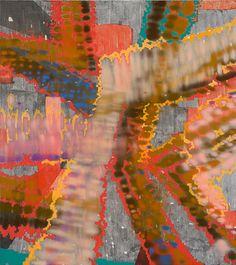 Keltie Ferris, R–E–A–C–H, 2012. Oil and acrylic on canvas. Courtesy Mitchell-Innes & Nash, New York