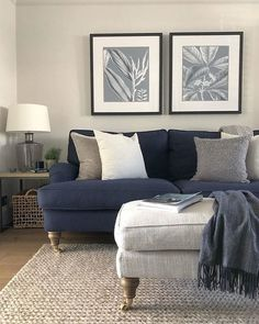 Creative Colorful Living Room Sofa Sets Design Ideas To .- Creative Colorful Living Room Sofa Sets Design Ideas To Have Asap Winter Living Room, New Living Room, My New Room, Living Room Decor Blue, Small Living, Living Room Sofa Design, Living Room Designs, Living Room Furniture, Blue Sofa Design