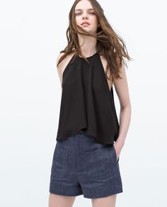 Image 2 of HALTER NECK LAYERED TOP from Zara