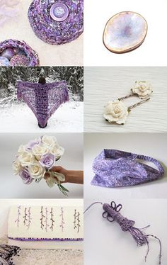 Winter Wonderland Beauty of Lavenders and Creams by Cindy Winfrey and Cheryl Dore on Etsy--Pinned with TreasuryPin.com