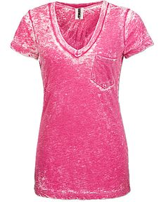Raspberry Burn Out Tee from BKE  $24.00