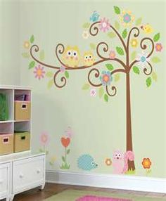 In lieu of painting, we bought this cute wall decal for the baby's room. :) Can't wait to put it up!