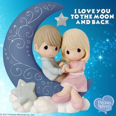 Precious Moments Bisque Porcelain Figurine, I Love You To The Moon And Back Precious Moments Quotes, Precious Moments Figurines, Biscuit, Sweetest Day, A Day In Life, Heaven Sent, I Love You, My Love, My Precious