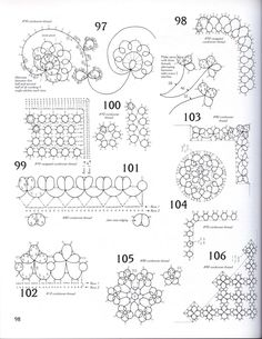 Tatting pattern by Venus Tatting Patterns, Lace Patterns, Embroidery Patterns, Needle Tatting, Tatting Lace, Abc Coloring Pages, Coloring Books, Christmas Nail Stickers, Tatting Tutorial